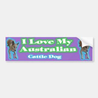 Australian Cattle Dogs. Gotta love'em. Car Bumper Sticker