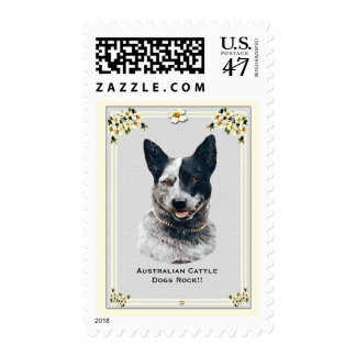 Australian Cattle Dogs Rock!! USA Postage Stamp