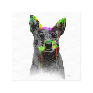 AUSTRALIAN CATTLE DOGS - Stretched Canvas Print