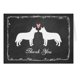 Wedding Thank You Gifts Australia : Australian Cattle Dogs Wedding Thank You Card