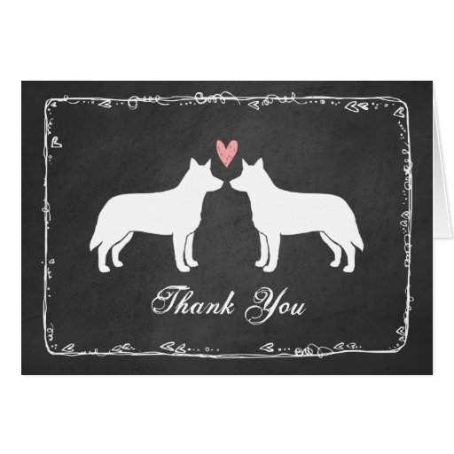 Wedding Gift Experiences Australia : Australian Cattle Dogs Wedding Thank You Card Zazzle