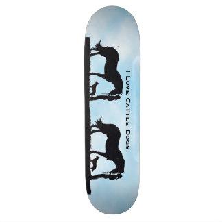 Australian Cattle Dogs, Western Silhouette Skateboard Deck
