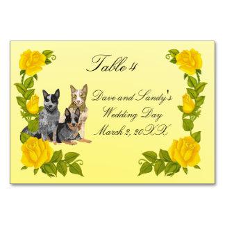 Australian Cattledog and Yellow Roses Card