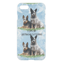 Uncommon iPhone 7 Clearly™ Deflector Case with Australian Cattle Dog Phone Cases design