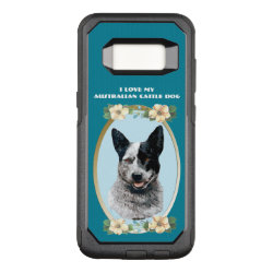 OtterBox Commuter Samsung Galaxy S8 Case with Australian Cattle Dog Phone Cases design