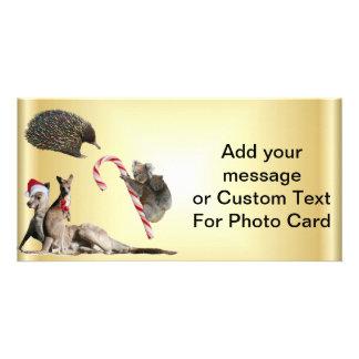Australian Christmas Animals Customized Photo Card