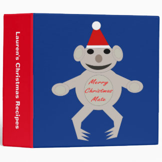 Australian Christmas Koala Be Custom Recipe Binder