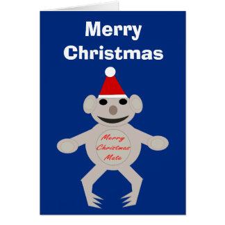 Australian Christmas Koala Bear Custom Card