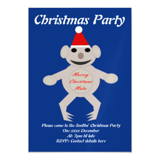 Australian Christmas Koala Bear Custom Invites
