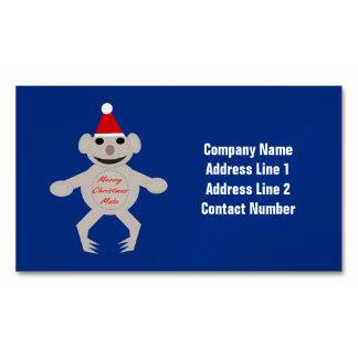 Australian Christmas Koala Bear Custom Magnetic Business Card