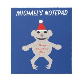 Australian Christmas Koala Bear Custom Notepad