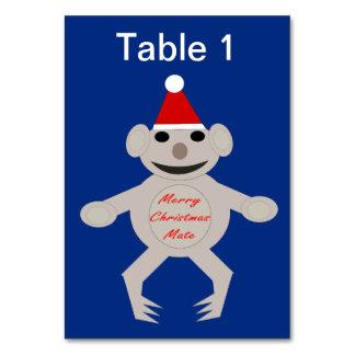 Australian Christmas Koala Bear Custom Tablecard Card
