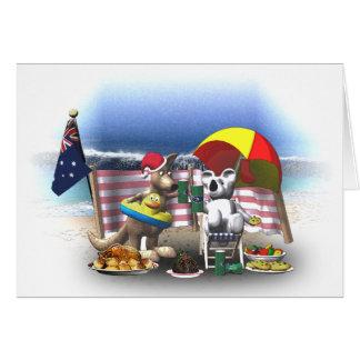 Australian Christmas on the beach Card