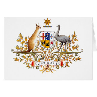 australian coat of arms card