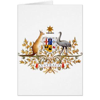 Australian coat of arms designed items card