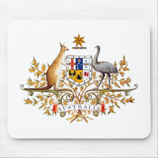 Australian coat of arms designed items mouse pad