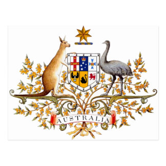 Australian coat of arms designed items post cards