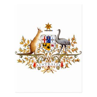 Australian coat of arms designed items post card