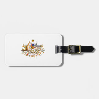 australian coat of arms luggage tag