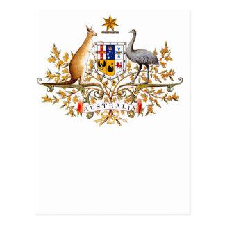 australian coat of arms postcards