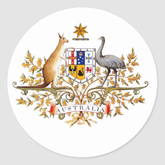 australian coat of arms round sticker