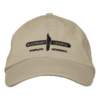 Australian Cockatiel Embroidered Hat