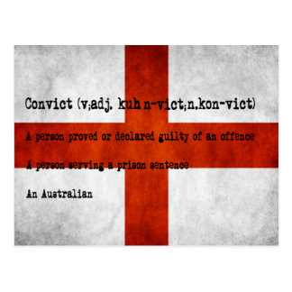 Australian convict definition post cards