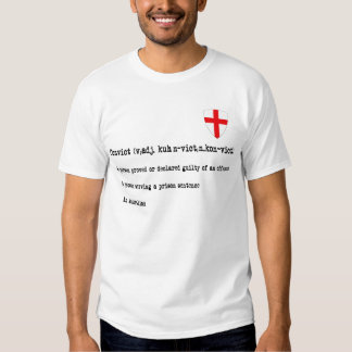 Australian convict definition tee shirt