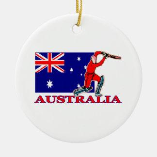 Australian Cricket Player Ceramic Ornament