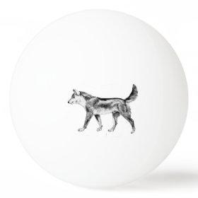 Australian Dingo Ping Pong Ball
