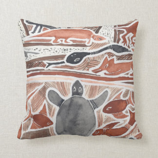 Australian Dreams Mythical Animals Turtle Pillow