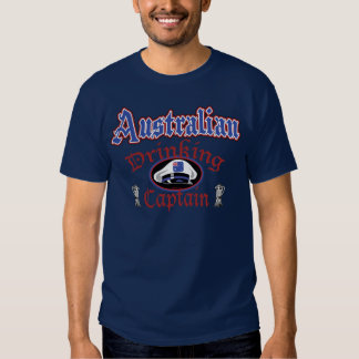 Australian Drinking Cptn T-shirt
