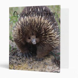 Australian Echidna Cute Animal Photo 3 Ring Binder