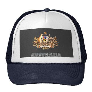 Australian Emblem Mesh Hats