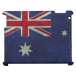 Australian Flag Aged Steel Effect Case For The iPad