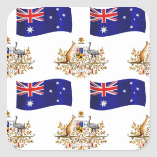 Australian Flag and Crest Stickers