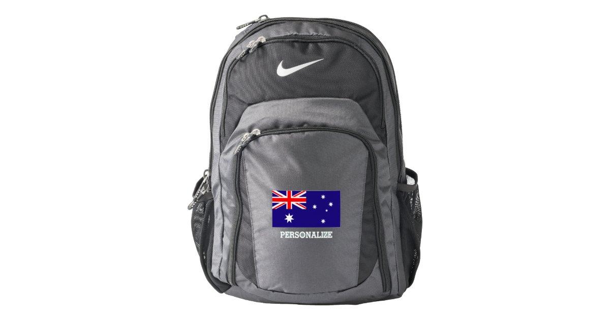 040731dd4a Australian flag Australia pride personalized Nike Backpack | Zazzle.com