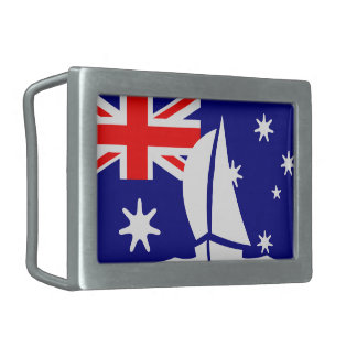 Australian Flag Australia Sailing Boat Nautical Belt Buckle
