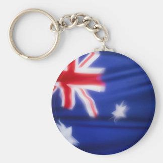 Australian Flag Basic Round Button Keychain