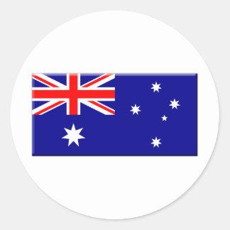 Australian Flag bevelled edge Classic Round Sticker