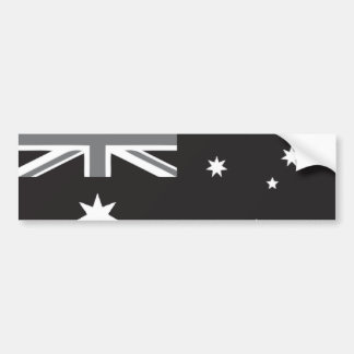 Australian Flag Black and White Bumper Sticker