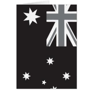 Australian Flag Black and White Card