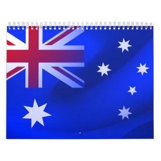 Australian flag calendar