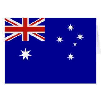 Australian flag card