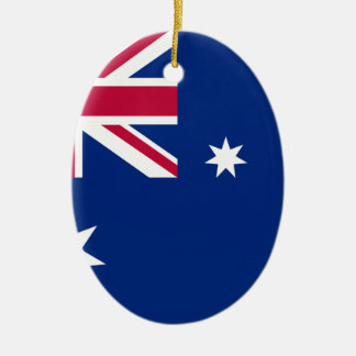 Australian flag ceramic ornament
