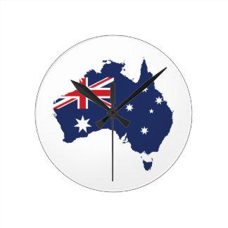 Australian Flag Round Wall Clocks