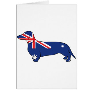 Australian Flag Dachshund Greeting Card