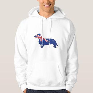 Australian Flag Dachshund Hoodie