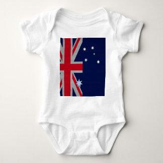 Australian Flag Design Carbon Fiber Chrome Style T Shirt