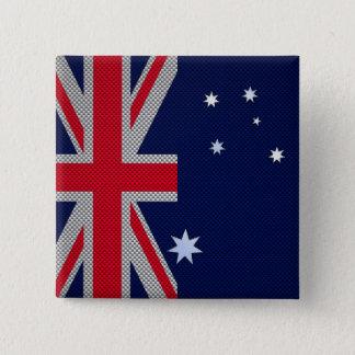 Australian Flag Design Carbon Fiber Style Button